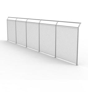 Industrial steel fencing, barrier rails, security fencing and burglar proofing