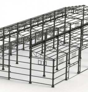 Industrial steel structures like Industrial warehousing – includes roofing